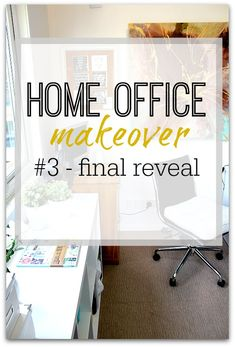 Final reveal of my home office makeover - what I used and why - get tips and ideas