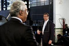 O primeiro-ministro luso, Pedro Passos Coelho, e o líder socialista, António Costa. EFE/Arquivo