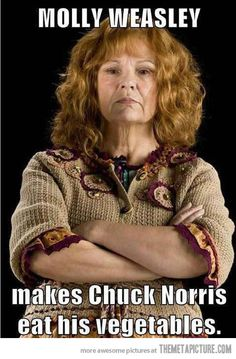 Voldemort is quite intimidated Molly Weasley.