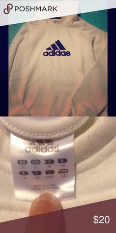 adidas hoodie white adidas sweatshirt.  Ready for cold weather Adidas Tops Sweatshirts & Hoodies