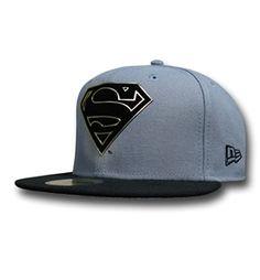 90eb61387f7 Superman Symbol Flock Cut 59Fifty Cap