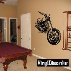 Chopper Wall Decal - Vinyl Decal - Car Decal - SM101
