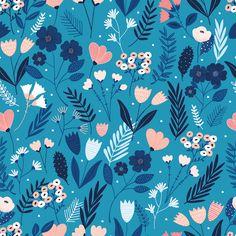 Millefleur | Dashwood Studio |100% cotton fabric | Purple Stitches