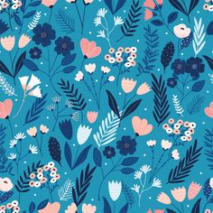Sew Scrumptious Fabrics - Dashwood - Millefleur - Flowers (Deep Blue), £2.75 (http://www.sewscrumptious.co.uk/dashwood-millefleur-flowers-deep-blue/)