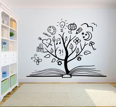 Vinyl Wall Decals, Wall Stickers, Simple Wall Paintings, Office Wall Decals, Wall Painting Decor, Art Decor, Creative Wall Decor, Library Wall, Book Wall