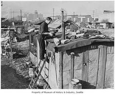 In the 1930's, Hoovervilles were built all over the United States for those who were not fortunate to stay with a family or friend that hadn't been evicted yet.