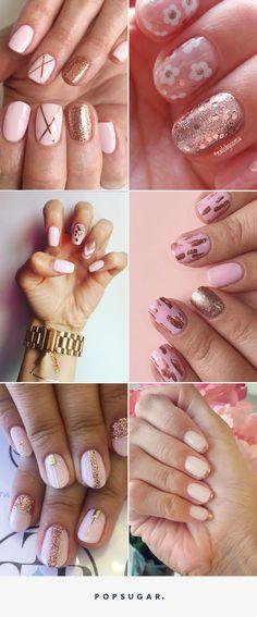 Donnez un Côté Girly et Edgy à Vos Ongles Avec ces Manucures Rose Gold