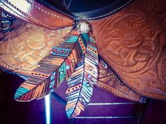 Concho Attach Saddle Feather - Custom Made to Order