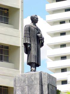 Anantamahidol statue, King of Thailand.  The statue is in Suandok Hospital, Chiangmai Thailand. 2014