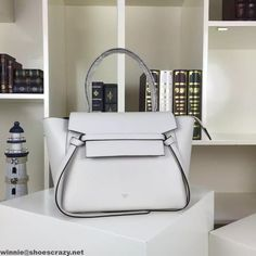 6e25ce6148 Celine Mini Belt Handbag In White Smooth Calfskin Summer 2016 Designer Bags  For Less