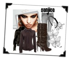 """""""The Pussycat Dolls - Stick with you """" by sanjica ❤ liked on Polyvore featuring Polaroid, AllSaints, High Fashion and ASOS"""