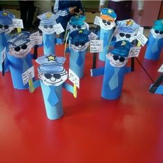 Community Helpers Craft Idea We prepared nice community helpers crafts for you. Prepare your materials to make a community helpers craft. Police Officer Crafts, Police Crafts, Community Helpers Crafts, Community Helpers Kindergarten, Man Crafts, Crafts For Kids, People Who Help Us, Police Activities, Toilet Paper Roll Crafts
