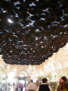 The Umbrella installation in Melbourne mall