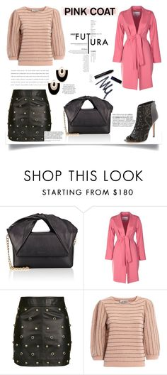 """Hey, Girl: Pretty Pink Coats"" by nahed-samer ❤ liked on Polyvore featuring J.W. Anderson, MaxMara, Topshop, Rebecca Minkoff and Valentino"