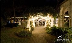 Llambias House Gardens in historic downtown St. Augustine sets up for a romantic wedding.