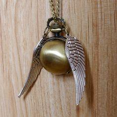 quidditch snitch necklace.