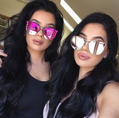 Odelia Sunglasses Shop: www.me www.me www.me Stylish Sunglasses, Sunglasses Shop, Mirrored Sunglasses, Laura Badura, Twin Girls, Girls Image, Kylie Jenner, Hair Goals, Sunnies
