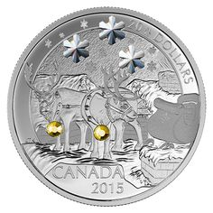 Fine Silver Coin – Holiday Reindeer – Mintage: Canadian Coins, Proof Coins, Tiny Eye, World Coins, Holiday Themes, Rare Coins, Coin Collecting, Silver Coins, Postage Stamps
