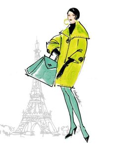 Colorful Fashion II - Paris Art Print Poster by Anne Tavoletti Online On Sale at Wall Art Store – Posters-Print.com