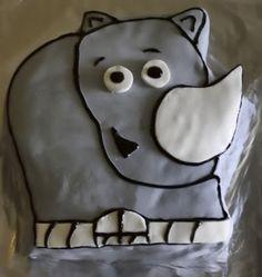 Rhino cake idea for Simon
