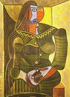 Pablo Picasso. Woman in Green (Dora Maar), 1943
