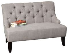 Mariana Fabric Settee, Grey - transitional - Love Seats - Great Deal Furniture $356.99