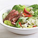 Barbecue Sirloin and Blue Cheese Salad Recipe  - substitute goat feta cheese