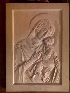 Icon of Mother of God - by Walther von Einik @ LumberJocks.com ~ woodworking community