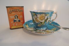 BETSY ROSS TEA Tin Orange Pekoe metal by BlueBarnCollectibles