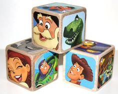 Toy Story 2 Children's Wooden Blocks  Baby Blocks by Booksonblocks, $17.00