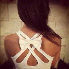 Open back dress with bow