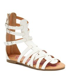 Look at this Yokids White Strap Suzette Gladiator Sandal on #zulily today!