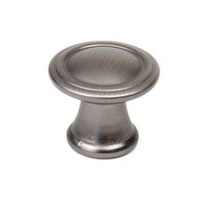 This antique pewter hand polished finish cabinet knob with ringed design is a part of the BCG Builder's Choice Series from Century Hardware. A perfect blend of craftsmanship in traditional and contemporary design to complement any decor.