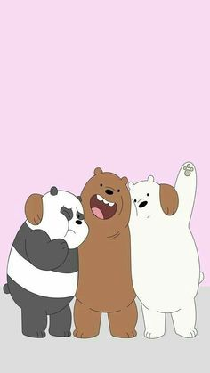 We bare bares❤❤❤ Wallpapers Geek, We Bare Bears Wallpapers, Panda Wallpapers, Cute Cartoon Wallpapers, Bear Wallpaper, Iphone Wallpaper, We Bear, Winnie, Bear Cartoon