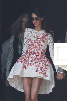 Amal Alamuddin leaving for honeymoon