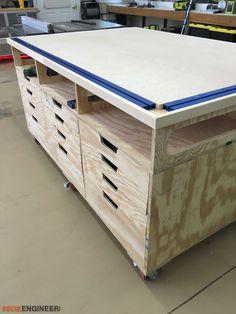 Ultimate DIY Workstation Plans - Free Plans | rogueengineer.com #Workstation #GarageDIYplans