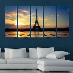 LARGE CANVAS ART - Eiffel Tower Paris Canvas Prints, Prints For Wall, Prints On Canvas, Art Wall Canvas, Canvas Art Decor