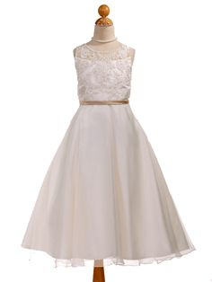 Perfect dress for the older flower girl. Not too little girlie.  Also works very well with a rustic or old fashioned theme.