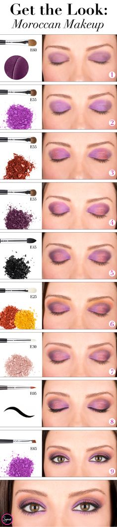 Add some purple and orange shades to your eye makeup for a fun Moroccan-infused look! #sigmabeauty Get the step-by-step tutorial: http://www.sigmabeautytalk.com/2012/12/21/get-the-look-midnight-in-morocco/
