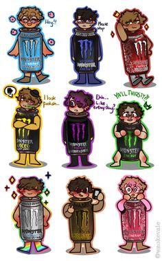 Art Drawings Sketches, Cute Drawings, Bebidas Energéticas Monster, Photographie Indie, Monster Pictures, Monster Energy Girls, Monster Crafts, Cool Monsters, Thomas Sanders