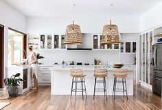 The Laminex Colour Collection is a timeless range of stunning laminates perfect for the modern Australian home. Home Decor Kitchen, Kitchen Living, Home Kitchens, Living Room, Home Board, Australian Homes, Kitchen Handles, Coastal Style, Kitchen Remodel