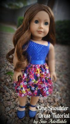One Shoulder Dress Tutorial for American Girl Dolls by bibicool17