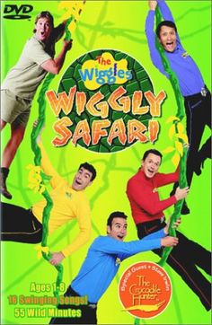 The Wiggles - Wiggly Safari G'day from the Australia Zoo, where the Wiggles get wild with Crocodile Hunter Steve Irwin. It's a Wiggly Safari: 55 jaw-snappin', Crocodile Hunter, Steve Irwin, Vhs Movie, The Wiggles, Lights Camera Action, Songs To Sing, Kids Videos, Classic Movies, Special Guest