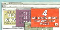 Web Design Trends that Won't Last in 2015 #WebDesign