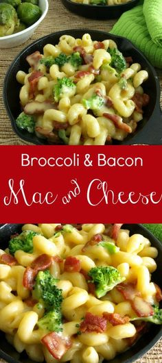 Broccoli & Bacon Mac & Cheese -- Kitchen Dreaming © -- This under 30 minute meal (or side) is a crowd please and my kids as for it by name.
