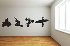 #Extreme #sports wall #art/transfer - mural/ quad/ snowboarder/surfing/motorbike,  View more on the LINK: 	http://www.zeppy.io/product/gb/2/121050665282/