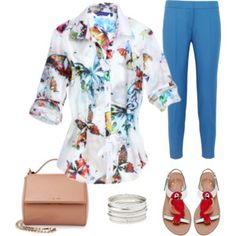 Summer Butterfly Casual Chic featuring #GeorgRothLosAngeles, #StellaMcCartney, #Givenchy, and #nordstrom. #myshirtmylife #MSML #whattowear www.myshirtmylife