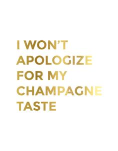 Gold Foil Champagne Taste Print by CityComfortsDC on Etsy
