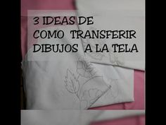 COMO TRANSFERIR UN DIBUJO A LA TELA - YouTube Interesting Information, Painted Pots, Punch Needle, Youtube, Needlework, Decoupage, Diy And Crafts, Make It Yourself, Stitch