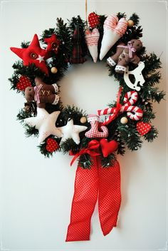 Classic American Christmas wreath